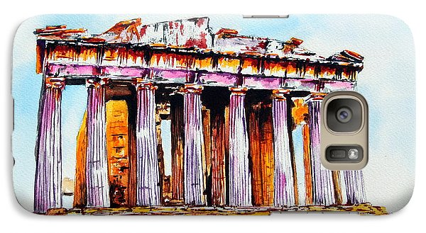 Galaxy Case featuring the painting Parthenon by Maria Barry