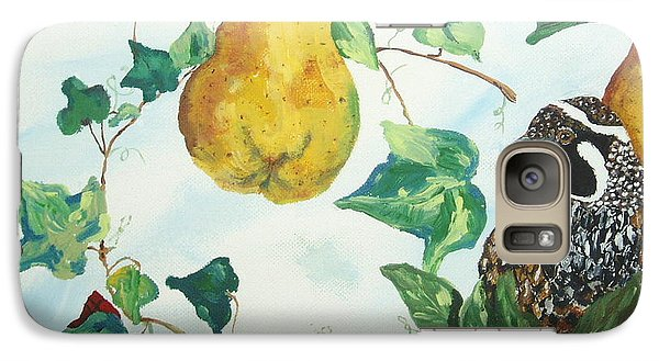 Galaxy Case featuring the painting Partridge And  Pears  by Reina Resto