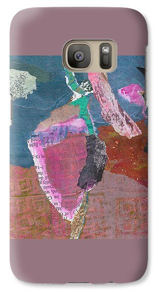 Galaxy Case featuring the mixed media Pas De Deux by Catherine Redmayne