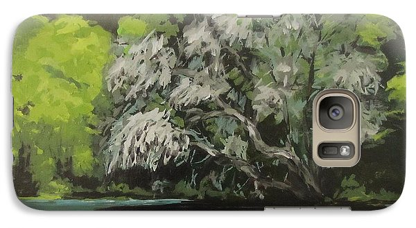 Galaxy Case featuring the painting Passing by Karen Ilari