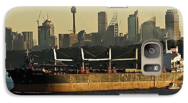 Galaxy Case featuring the photograph Passing Sydney In The Sunset by Miroslava Jurcik