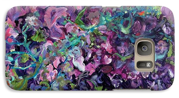 Galaxy Case featuring the painting Passion by Anne Dentler