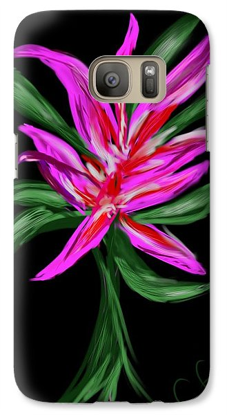 Galaxy Case featuring the digital art Passion Flower by Christine Fournier