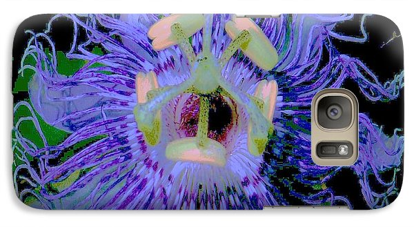 Galaxy Case featuring the photograph Passion Flower  by Shirley Moravec