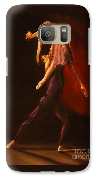 Galaxy Case featuring the painting Passion by Nancy Bradley