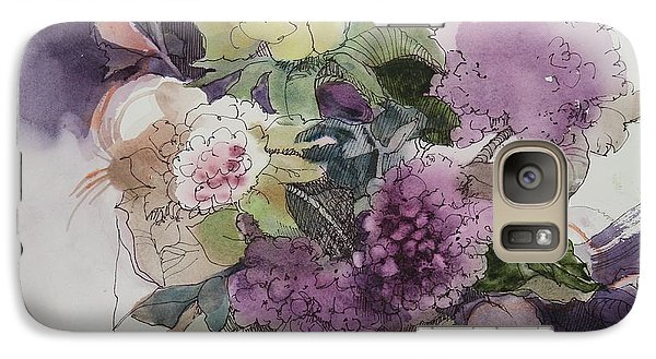 Galaxy Case featuring the painting Passionate About Purple by Elizabeth Carr