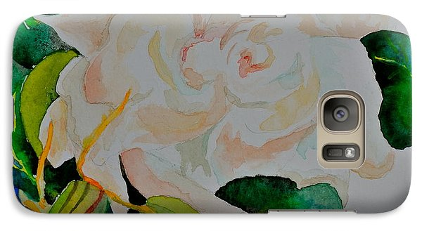 Galaxy Case featuring the painting Passionate Gardenia by Beverley Harper Tinsley