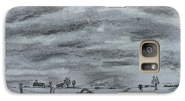 Galaxy Case featuring the drawing Past Memory by Jack G  Brauer