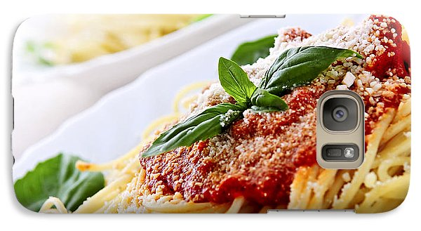 Pasta And Tomato Sauce Galaxy S7 Case by Elena Elisseeva