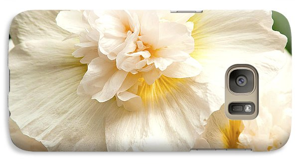 Galaxy Case featuring the photograph Pastel Delphinium by Jerry Cowart