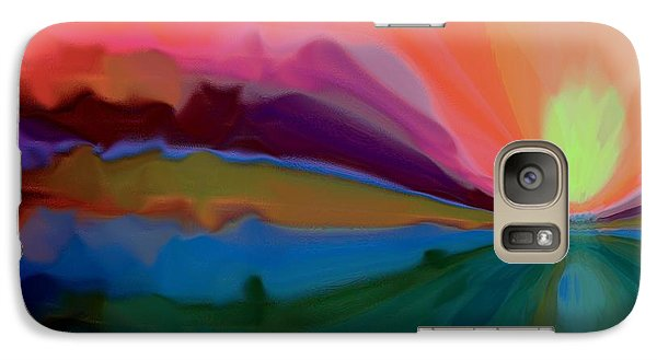 Galaxy Case featuring the mixed media Pastel Dusk by Terence Morrissey