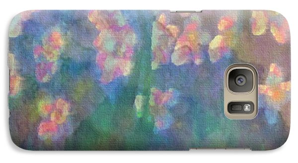 Galaxy Case featuring the painting Pastel Petals by Holly Martinson