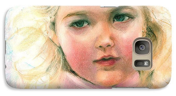 Galaxy Case featuring the painting Pastel Portrait Of An Angelic Girl by Greta Corens