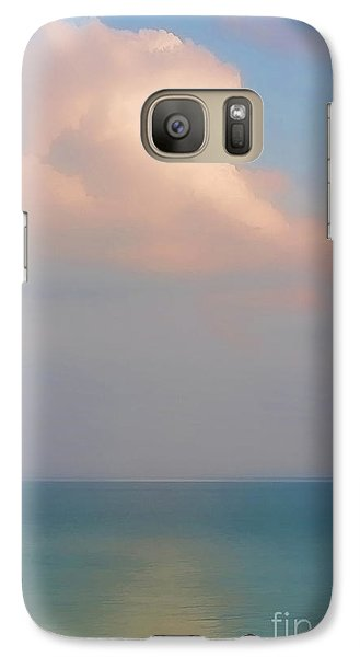 Galaxy Case featuring the photograph Pastel Seascape by Clare VanderVeen