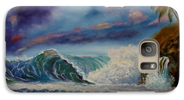 Galaxy Case featuring the painting Pastel Sunset by Jenny Lee
