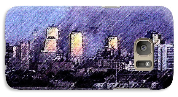 Galaxy Case featuring the digital art Pastel Sunset On Ground Zero by James Kosior