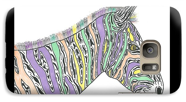 Galaxy Case featuring the painting Pastel Zebra  by Susie Weber