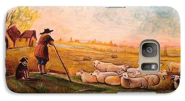 Galaxy Case featuring the painting Pastoral Landscape by Egidio Graziani