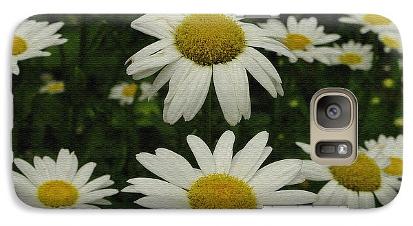 Galaxy Case featuring the photograph Patch Of Daisies by James C Thomas