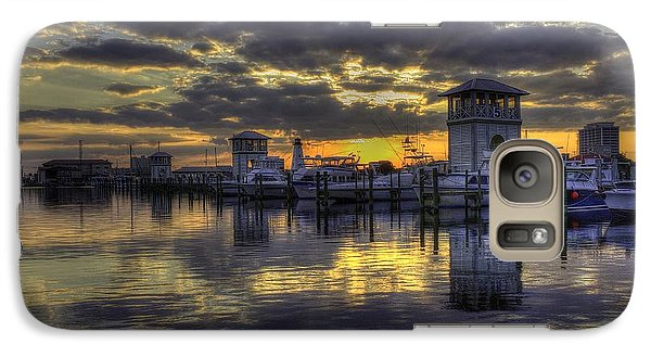 Galaxy Case featuring the photograph Patches In The Harbor by Maddalena McDonald