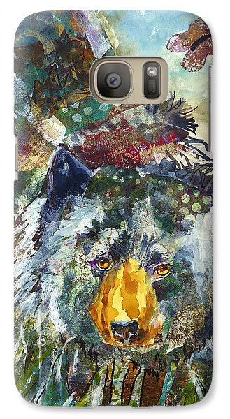 Galaxy Case featuring the mixed media Patchwork Bear by P Maure Bausch