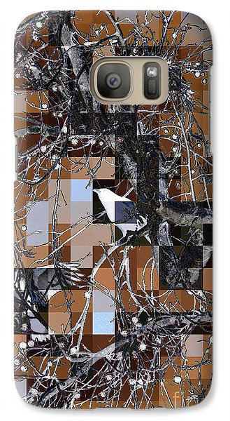 Galaxy Case featuring the digital art Patchwork Crows by Denise Deiloh