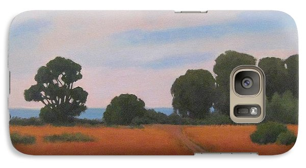 Galaxy Case featuring the painting Path At Carpinteria Bluffs by Jennifer Boswell