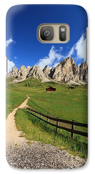 Galaxy Case featuring the photograph path in Gardena pass by Antonio Scarpi