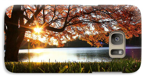 Galaxy Case featuring the photograph Path Into Autumn by Everett Houser