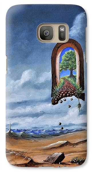 Galaxy Case featuring the painting path not for public use II another way  by Mariusz Zawadzki