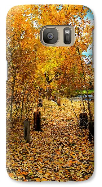 Galaxy Case featuring the photograph Path Of Fall Foliage by Kevin Bone