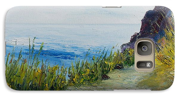 Galaxy Case featuring the painting Path To Lovers Cove by Conor Murphy