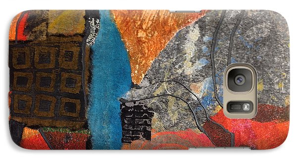 Galaxy Case featuring the mixed media Paths by Catherine Redmayne