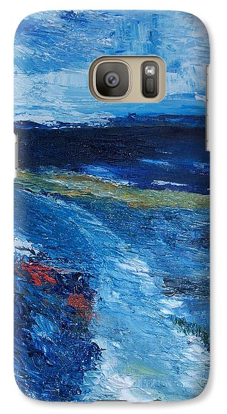 Galaxy Case featuring the painting Pathway  To Oysterhaven Kinsale by Conor Murphy