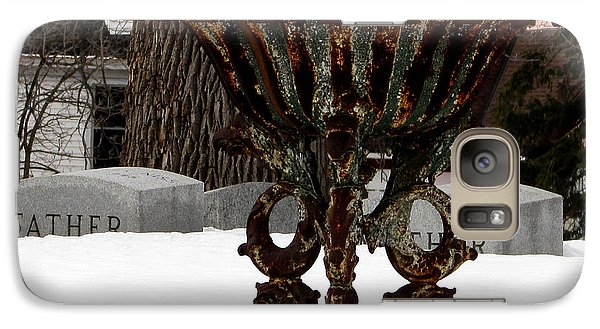 Galaxy Case featuring the photograph Patina In Snow by Kimberly Mackowski