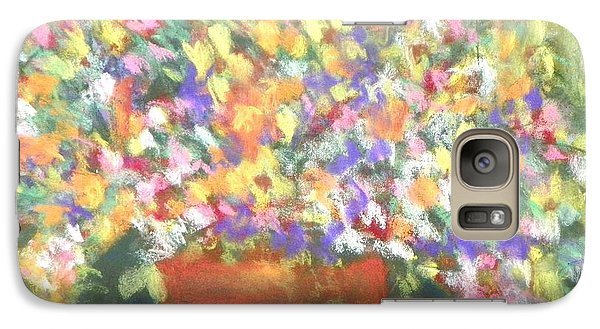 Galaxy Case featuring the photograph patio plants I by Shirley Moravec
