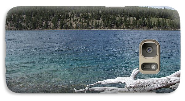 Galaxy Case featuring the photograph Patricia Lake - Jasper by Phil Banks