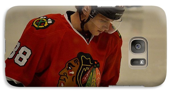 Galaxy Case featuring the photograph Patrick Kane Reflects by Melissa Goodrich