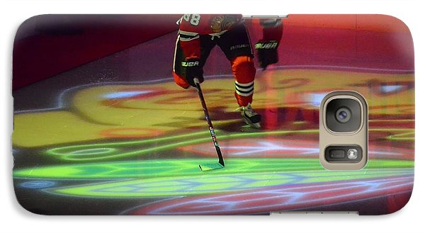 Galaxy Case featuring the photograph Patrick Kane Takes The Ice by Melissa Goodrich
