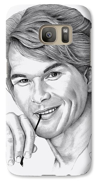 Galaxy Case featuring the drawing Patrick Swayze by Patricia Hiltz