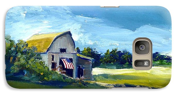 Galaxy Case featuring the painting Patriot by Sally Simon