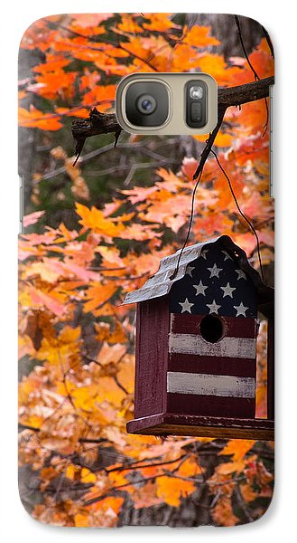 Galaxy Case featuring the photograph Patriotic Birdhouse - 02 by Wayne Meyer
