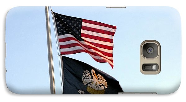 Galaxy Case featuring the photograph Patriotic Flags by Joseph Baril