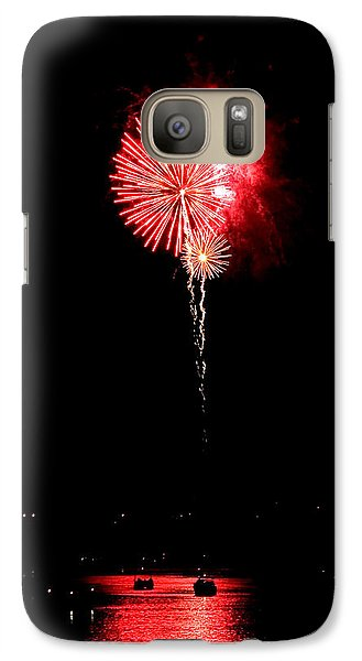 Galaxy Case featuring the photograph Patriotic Red Reflections by Gene Walls