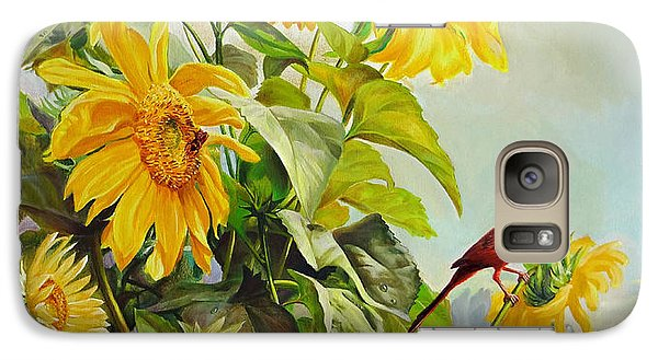 Galaxy Case featuring the painting Patriotic Song - The Incredible Morning by Svitozar Nenyuk