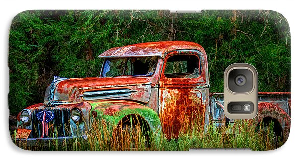 Galaxy Case featuring the photograph Patriotic Truck by Priscilla Burgers