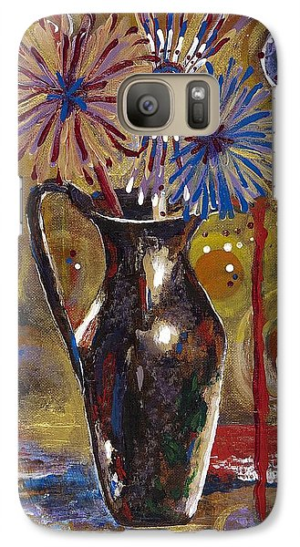 Galaxy Case featuring the painting Patriotism Blooms by Margaret Bobb