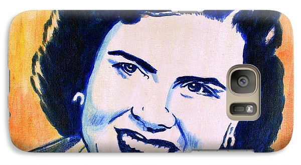 Galaxy Case featuring the painting Patsy Cline Pop Art Painting by Bob Baker