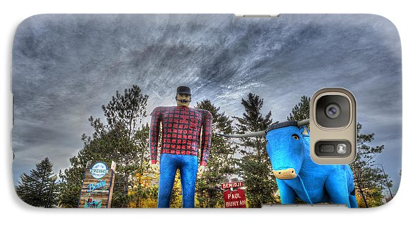 Galaxy Case featuring the photograph Paul Bunyan And Babe The Blue Ox In Bemidji by Shawn Everhart