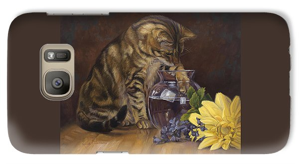 Daisy Galaxy S7 Case - Paw In The Vase by Lucie Bilodeau